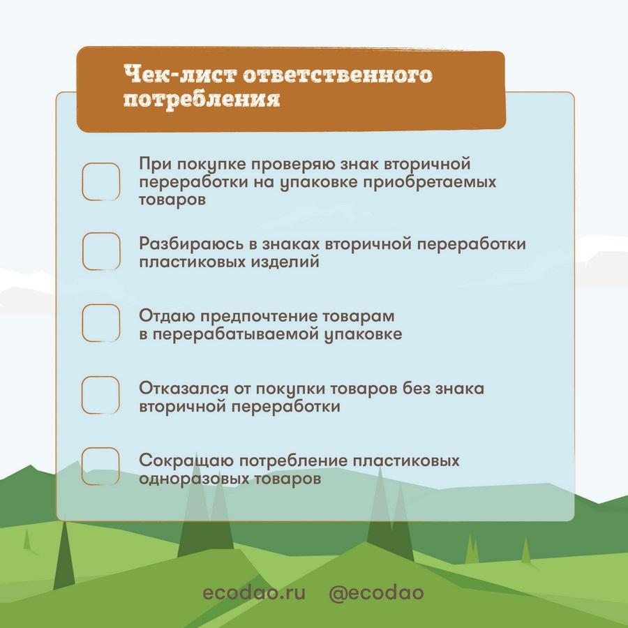 Маркировка материалов изделий - Чек-лист ответственного потребления