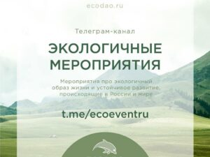 Телеграм канал Экологичные мероприятия Устойчивое мышление